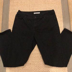 Chico's Black Platinum Denim Jeans Sz 2 or 12